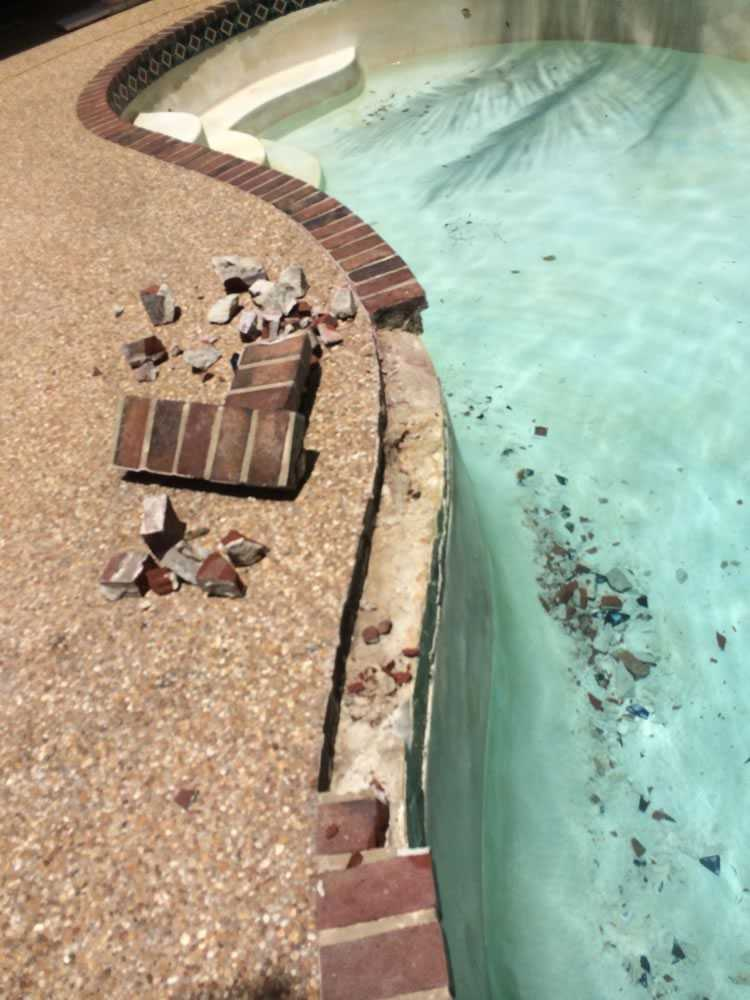 Basic Pool and Paving Before image