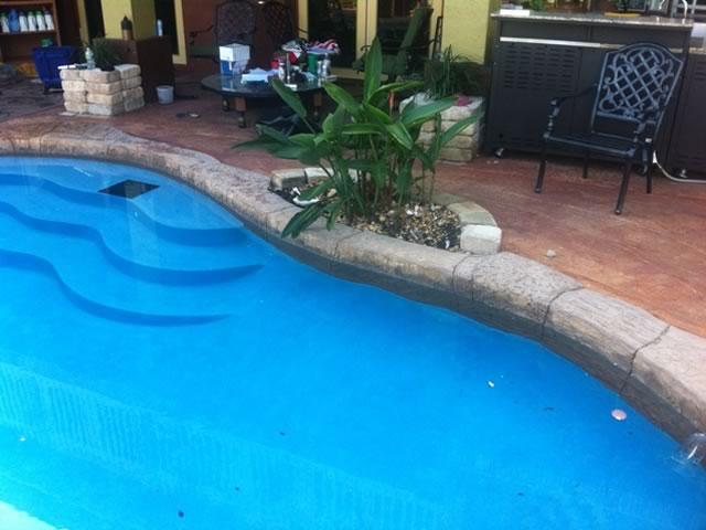 Cooper City Pool Remodel - Before Image