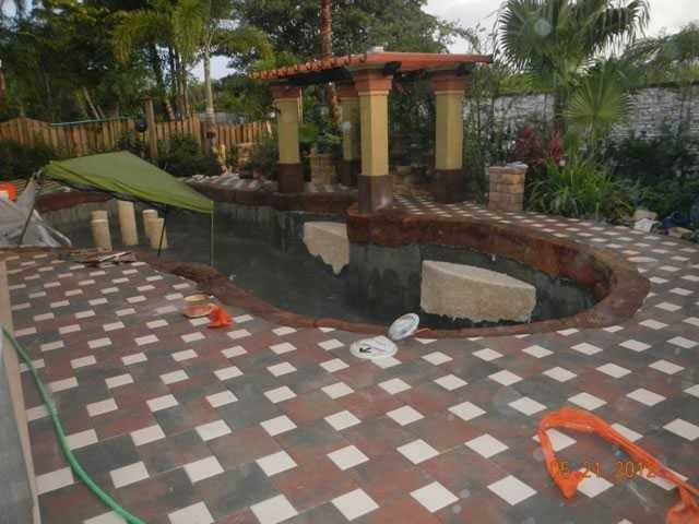 Cooper City Pool Remodel - During construction
