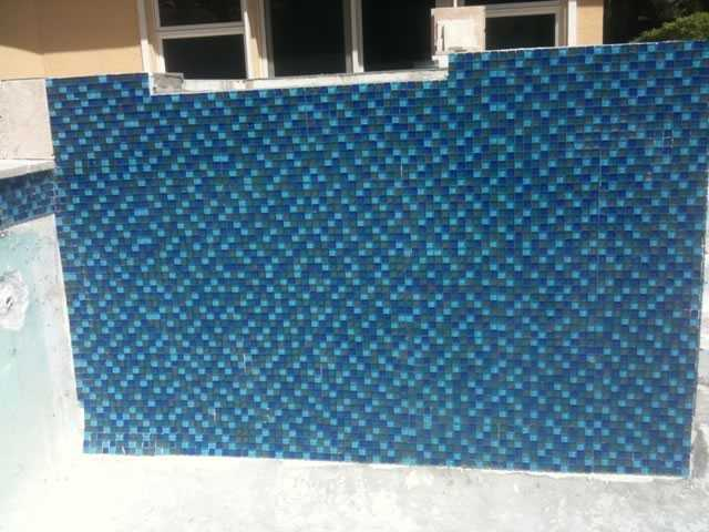 Coping tile - During construction Image