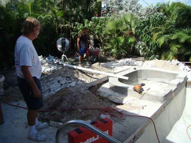 Deck and Pool Modernize - During Construction