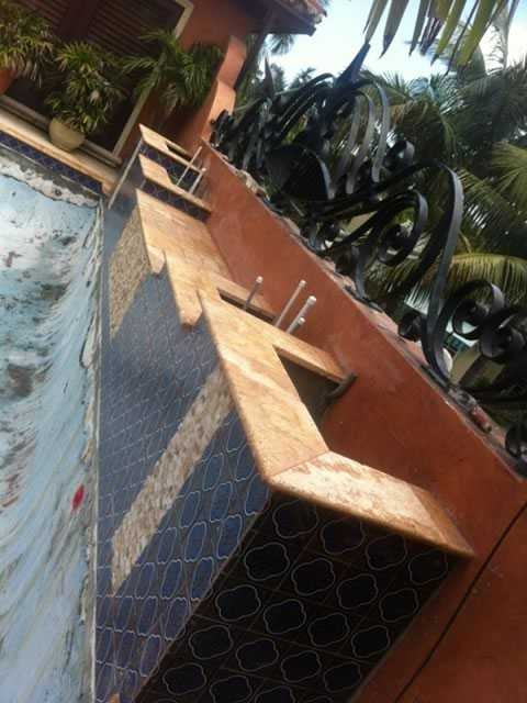 Second Floor pool and Spa during construction image